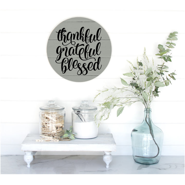 Thankful, Grateful, Blessed Pallet Sign