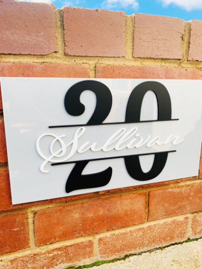 Personalised Address Sign