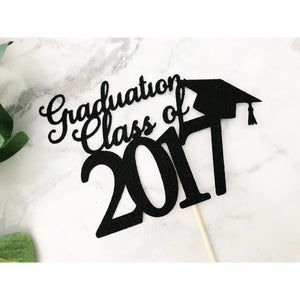Graduation Acrylic Cake topper - Aston Blue