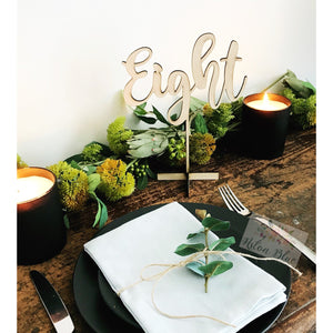 Wedding Table Number (Large) - Aston Blue