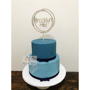 Personalised Cake topper - Aston Blue