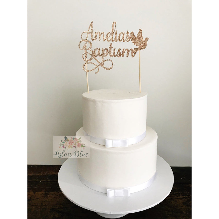Baptism Cake Topper - Aston Blue