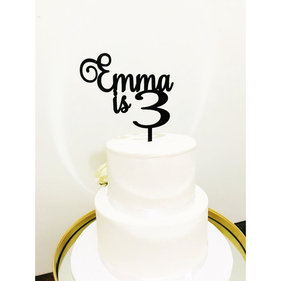 Custom Three Cake Toppe - Aston Blue