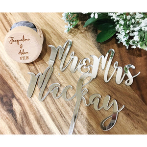 Ring Box & Cake Topper COMBO - Aston Blue