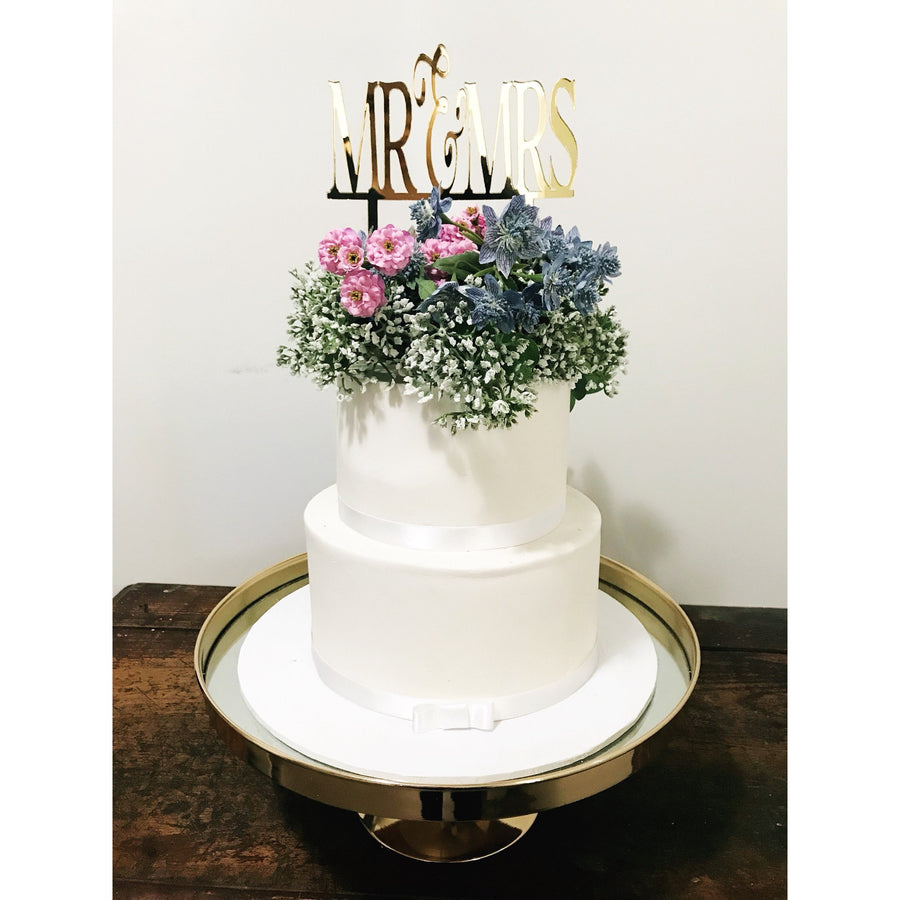 Mr and Mrs Cake Topper - Aston Blue