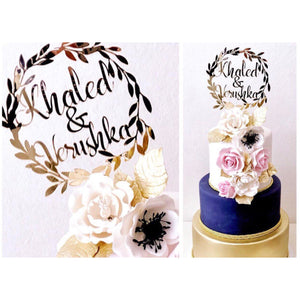 Personalised Cake Topper Aston Blue