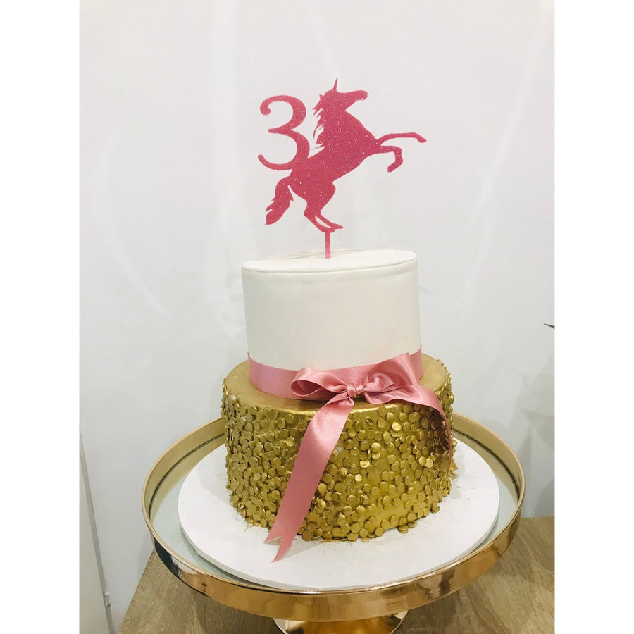 Unicorn Cake Topper - Aston Blue