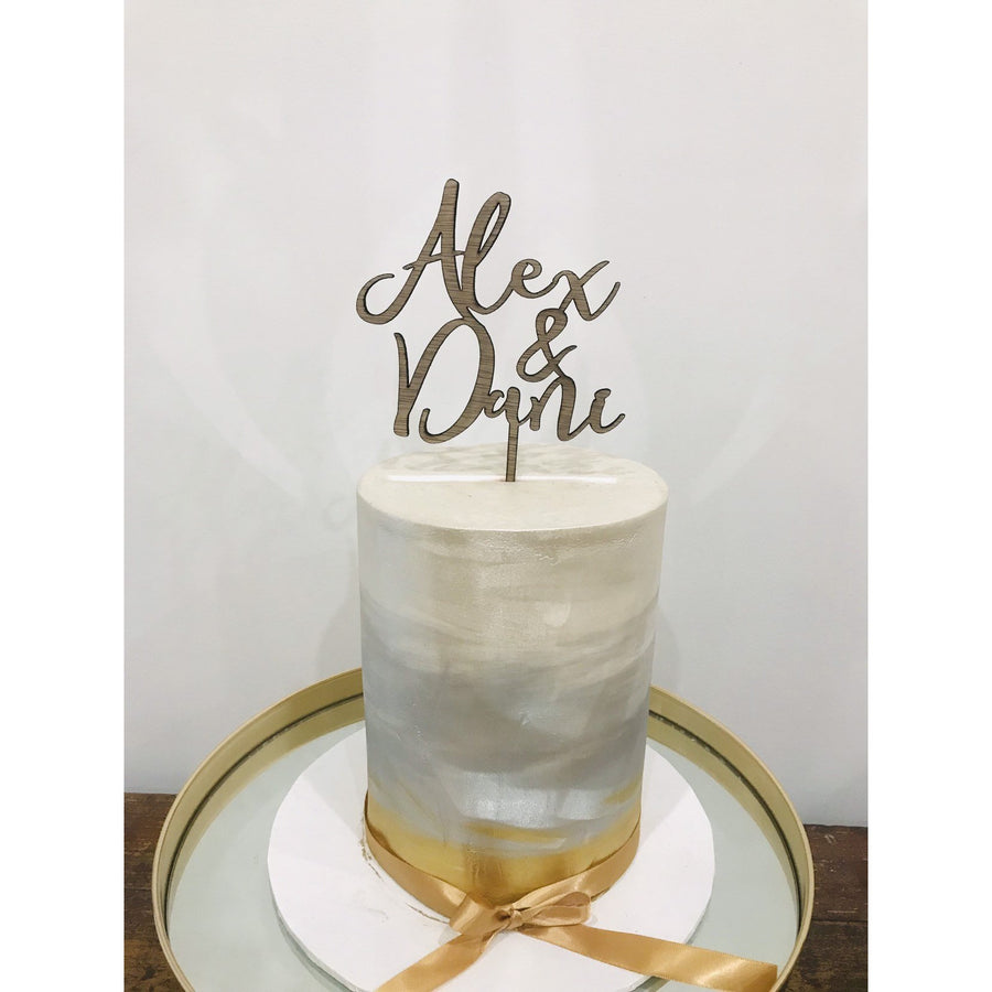Personalised Wedding Cake Topper - Aston Blue
