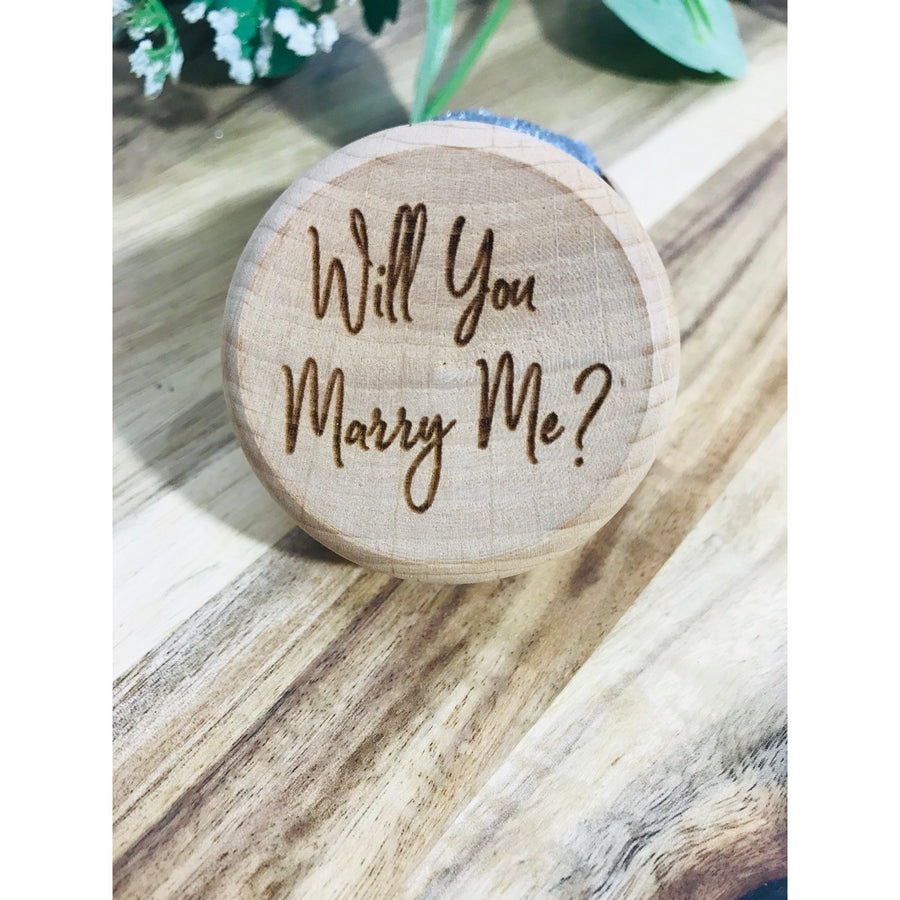 Will you marry me Ring Box - Aston Blue