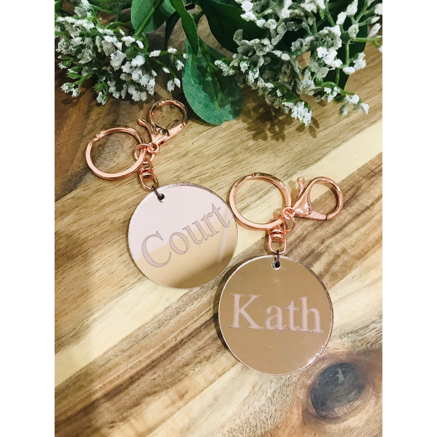 Personalised Engraved Key Ring - Aston Blue
