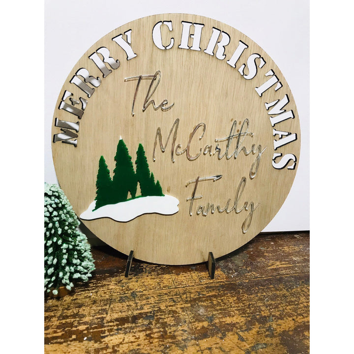 Personalised Christmas Sign - Aston Blue