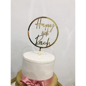 Forty Cake Topper - Aston Blue