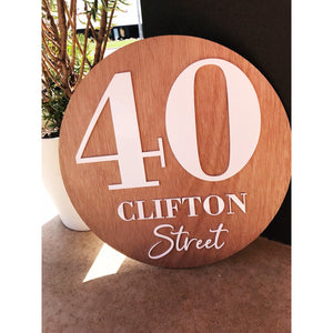 40 cm Personalised House Sign - Aston Blue
