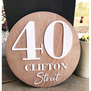 60 cm Personalised House Sign - Aston Blue