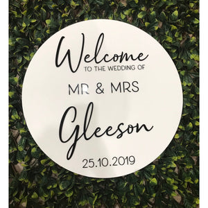 Personalised Wedding welcome Sign - Aston Blue