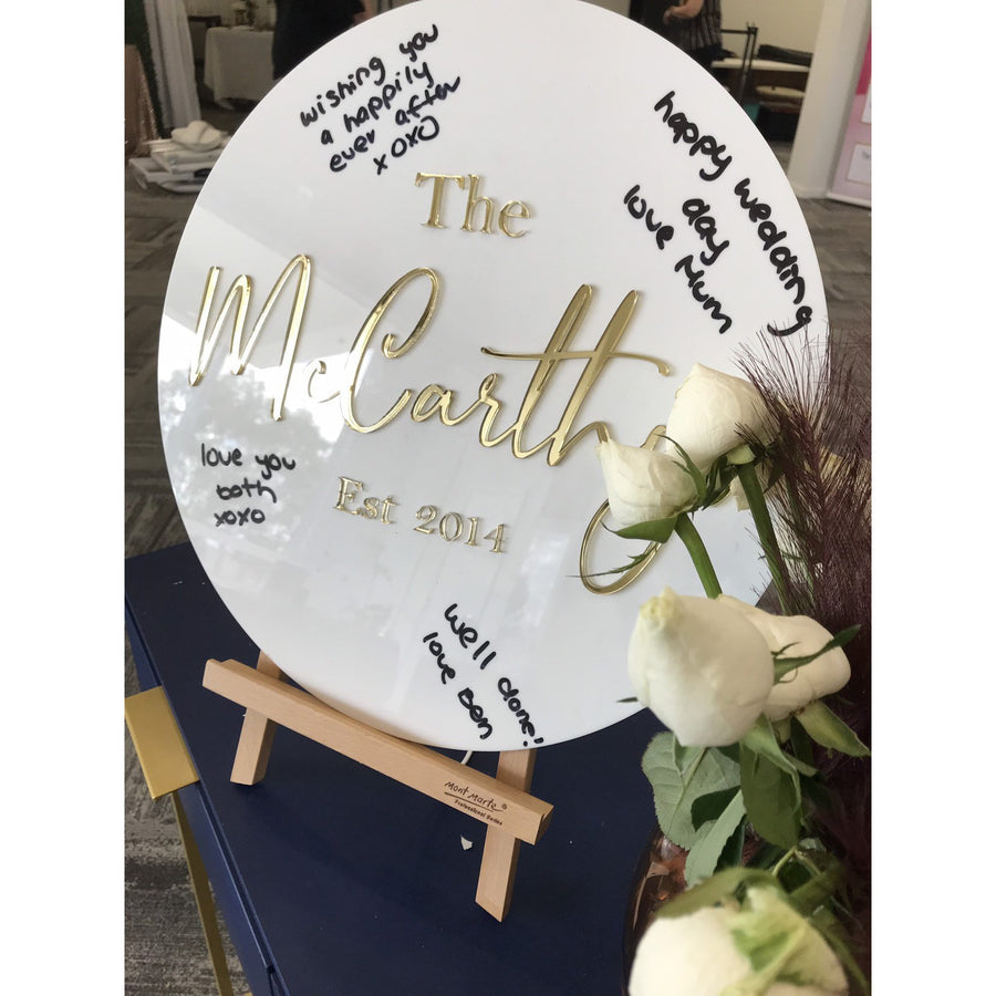 Wedding Guest Board - Aston Blue