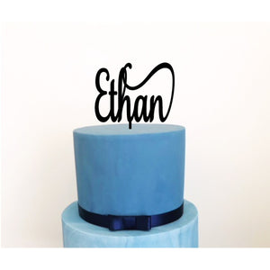 Custom Acrylic Cake Topper - Aston Blue