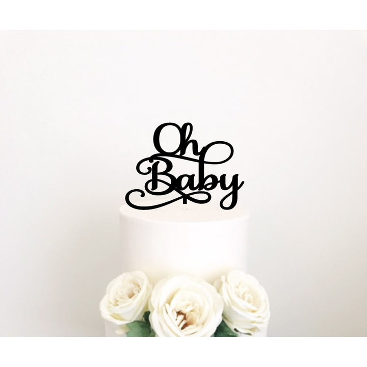 Oh Baby Acrylic CAKE Topper - Aston Blue