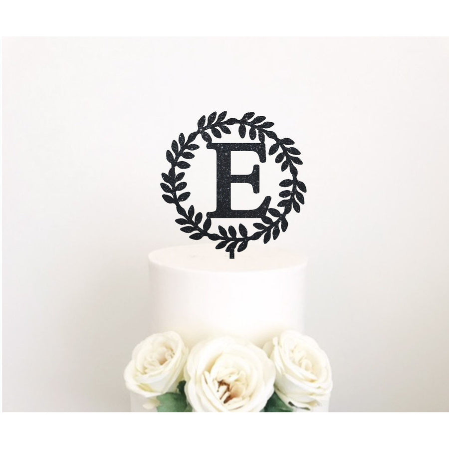 Wreath Acrylic Cake Topper - Aston Blue