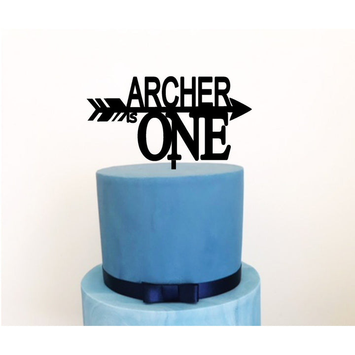 Arrow Acrylic  Cake Topper - Aston Blue