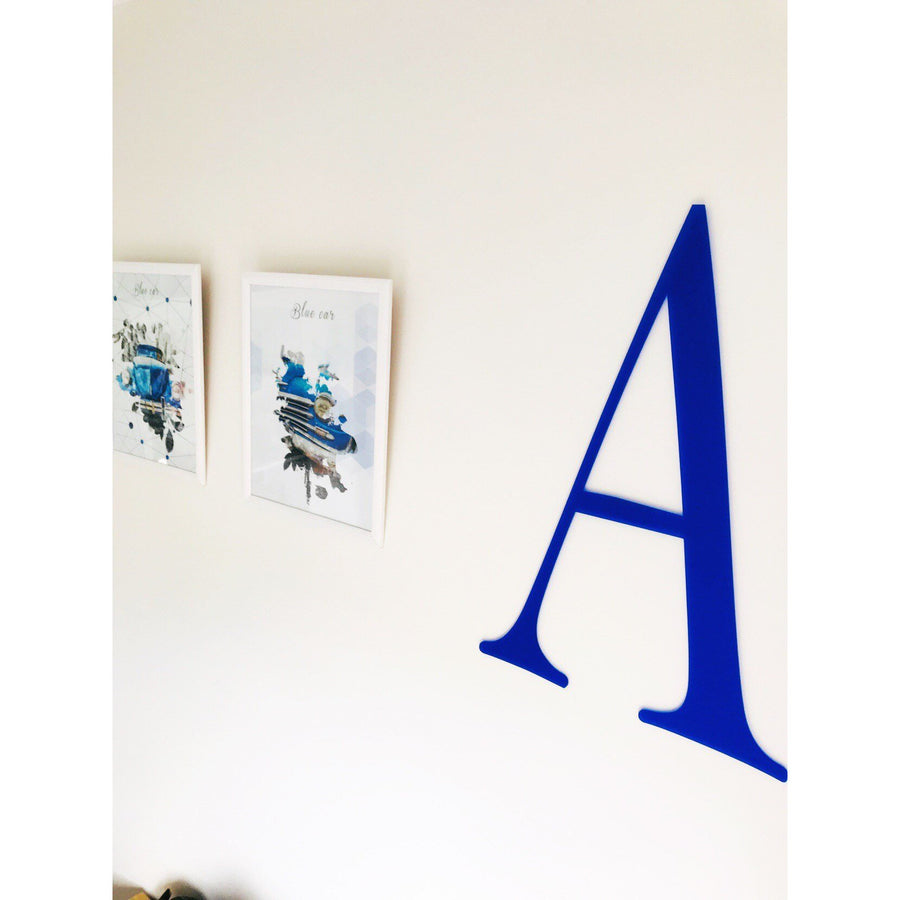 60 cm Initial Plaque - Aston Blue