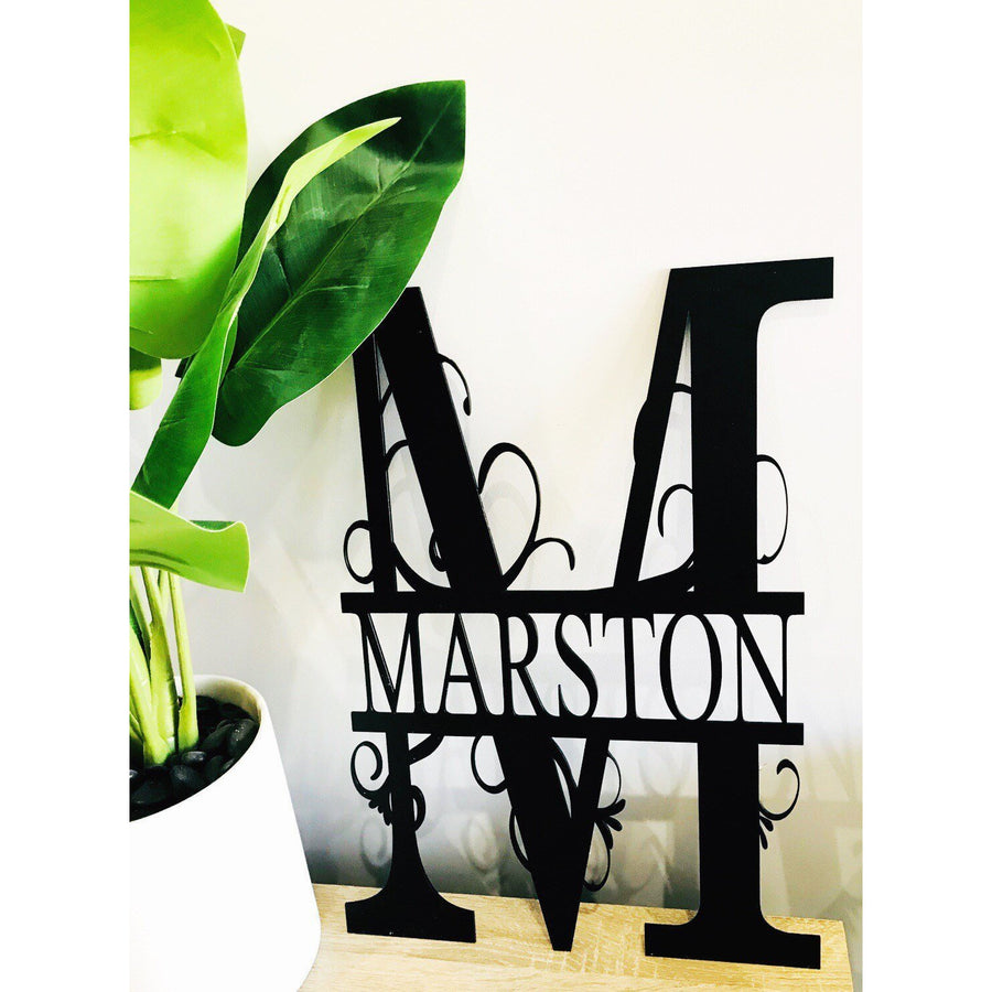 60 cm Monogram Sign - Aston Blue