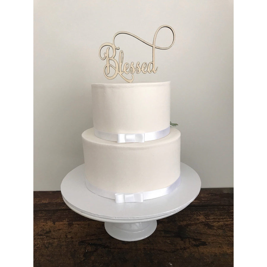 Blessed Cake Topper - Aston Blue