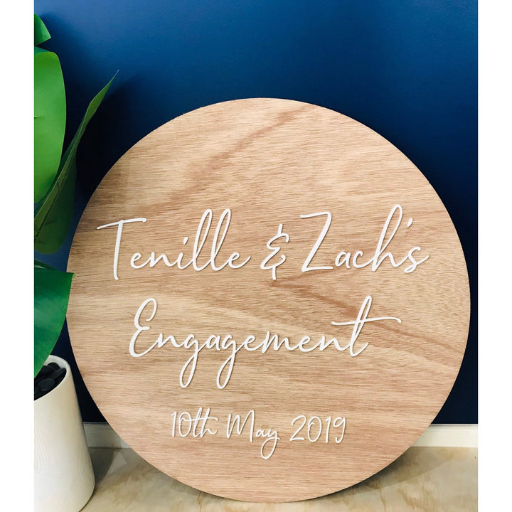 Personalised Engagement Sign - Aston Blue