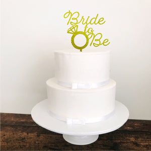 Custom Bride to Be Cake Topper - Aston Blue