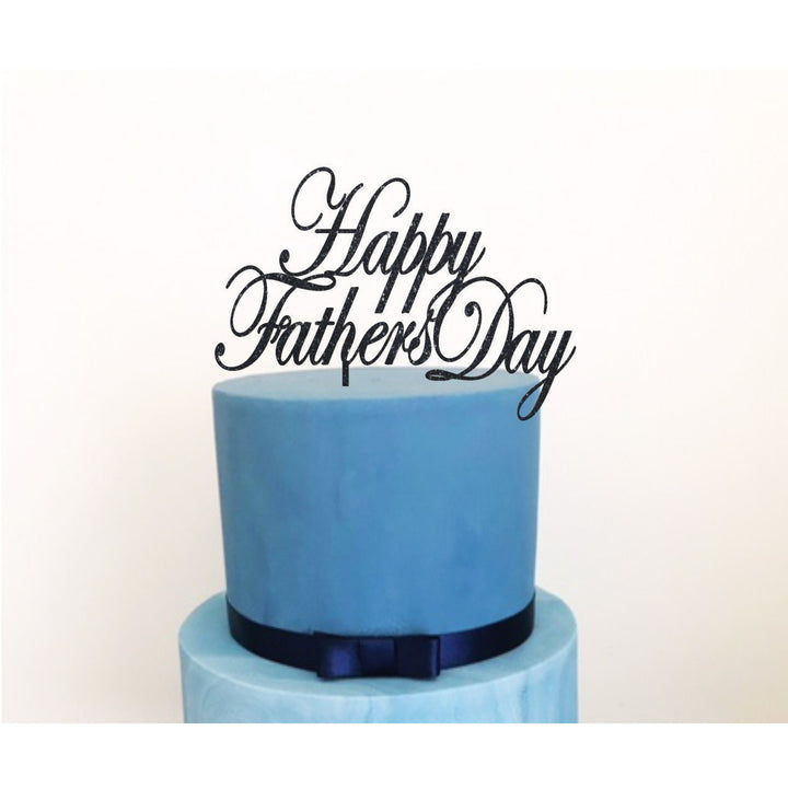 Happy Fathers Day Acrylic Cake Topper - Aston Blue