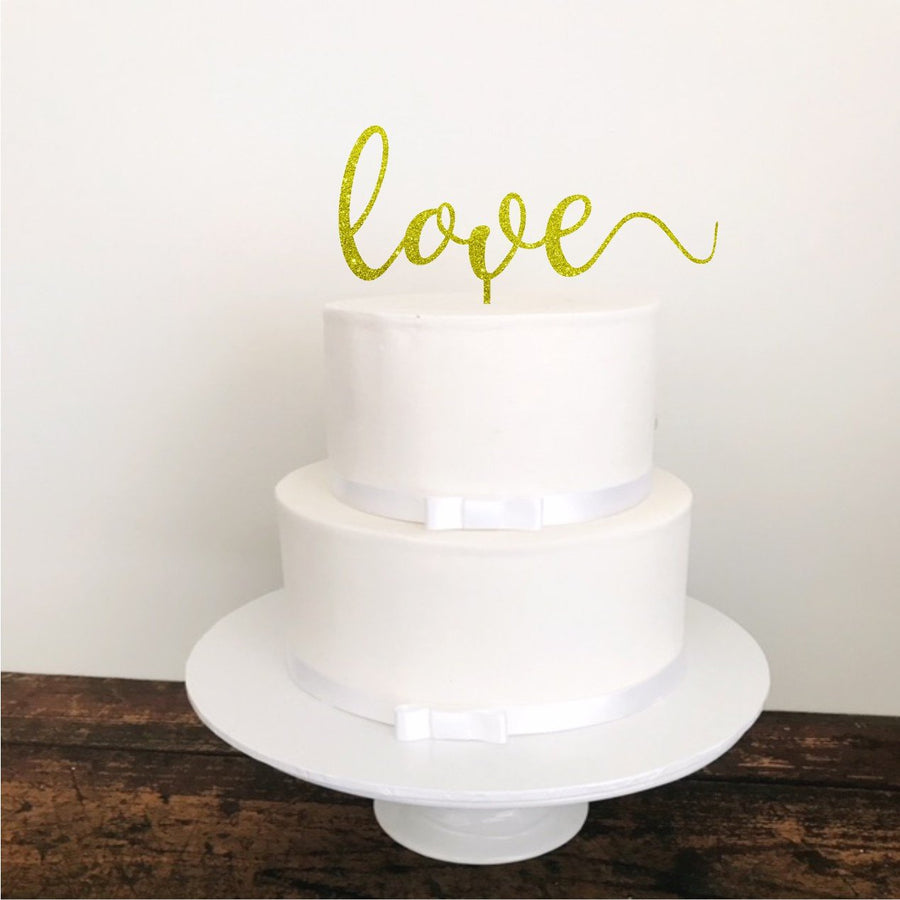 Love Acrylic Cake Topper Engagement Party - Aston Blue