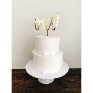 One Cake topper - Aston Blue