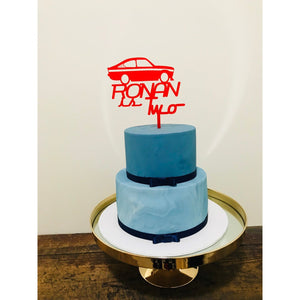 Car Cake Topper - Aston Blue