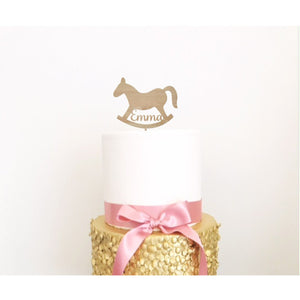 Rocking Horse Cake Topper - Aston Blue