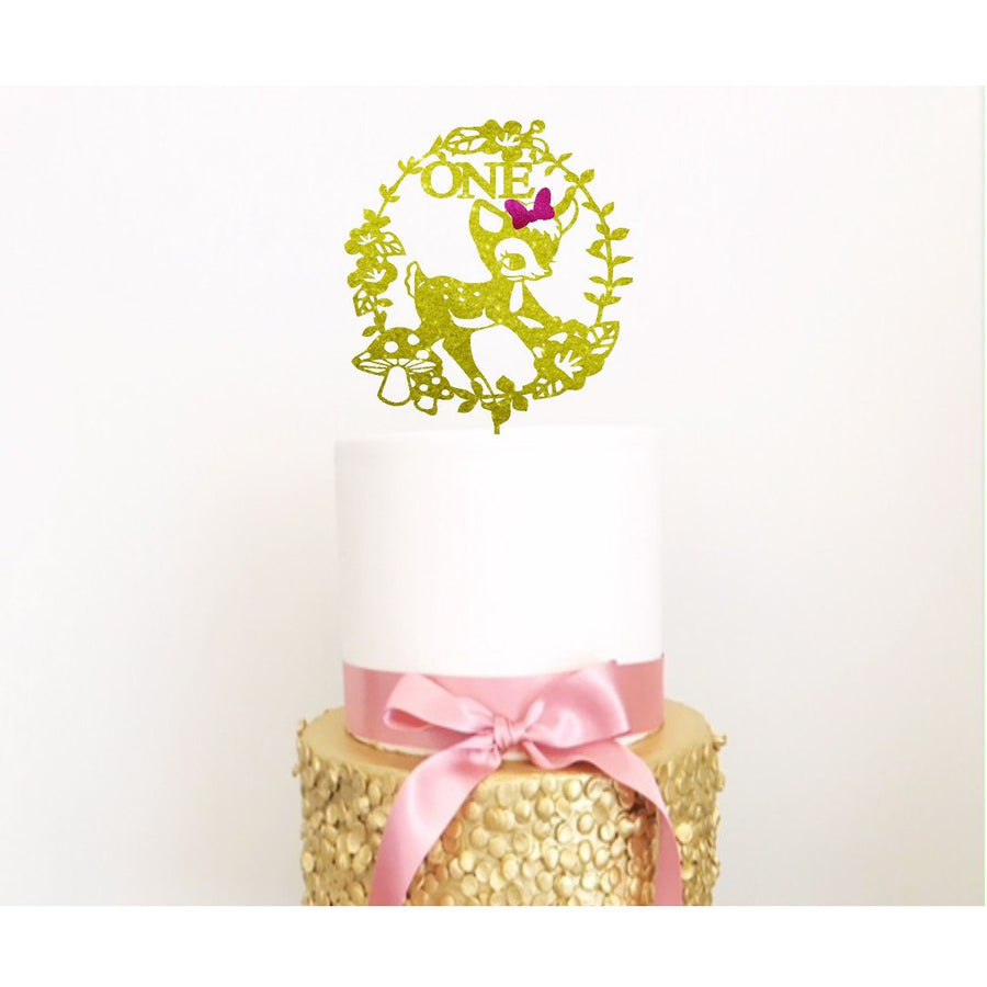 Fawn Cake Topper - Aston Blue