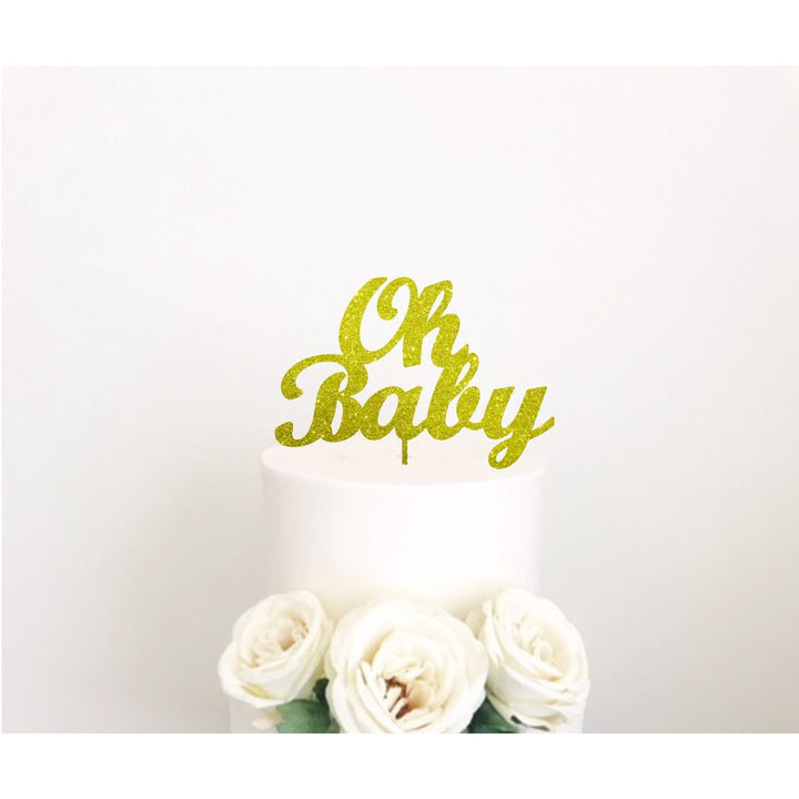 Oh Baby Cake Topper - Aston Blue