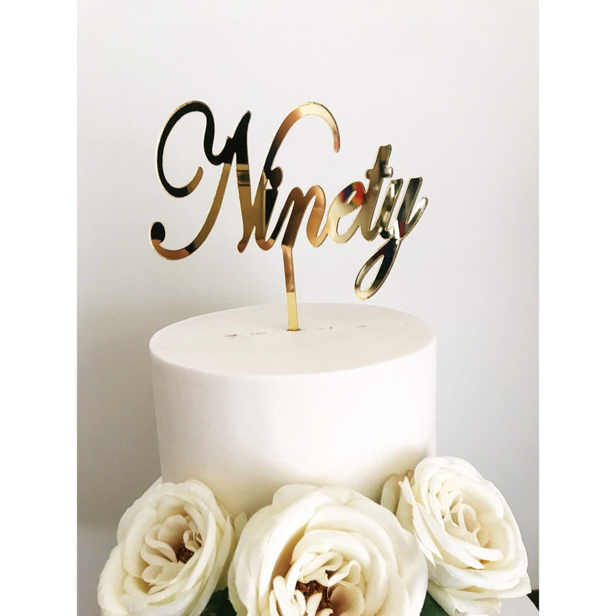 Ninety Cake Topper - Aston Blue