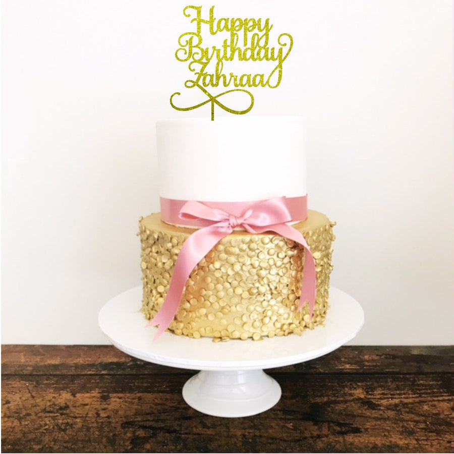 Happy Birthday Cake Topper - Aston Blue