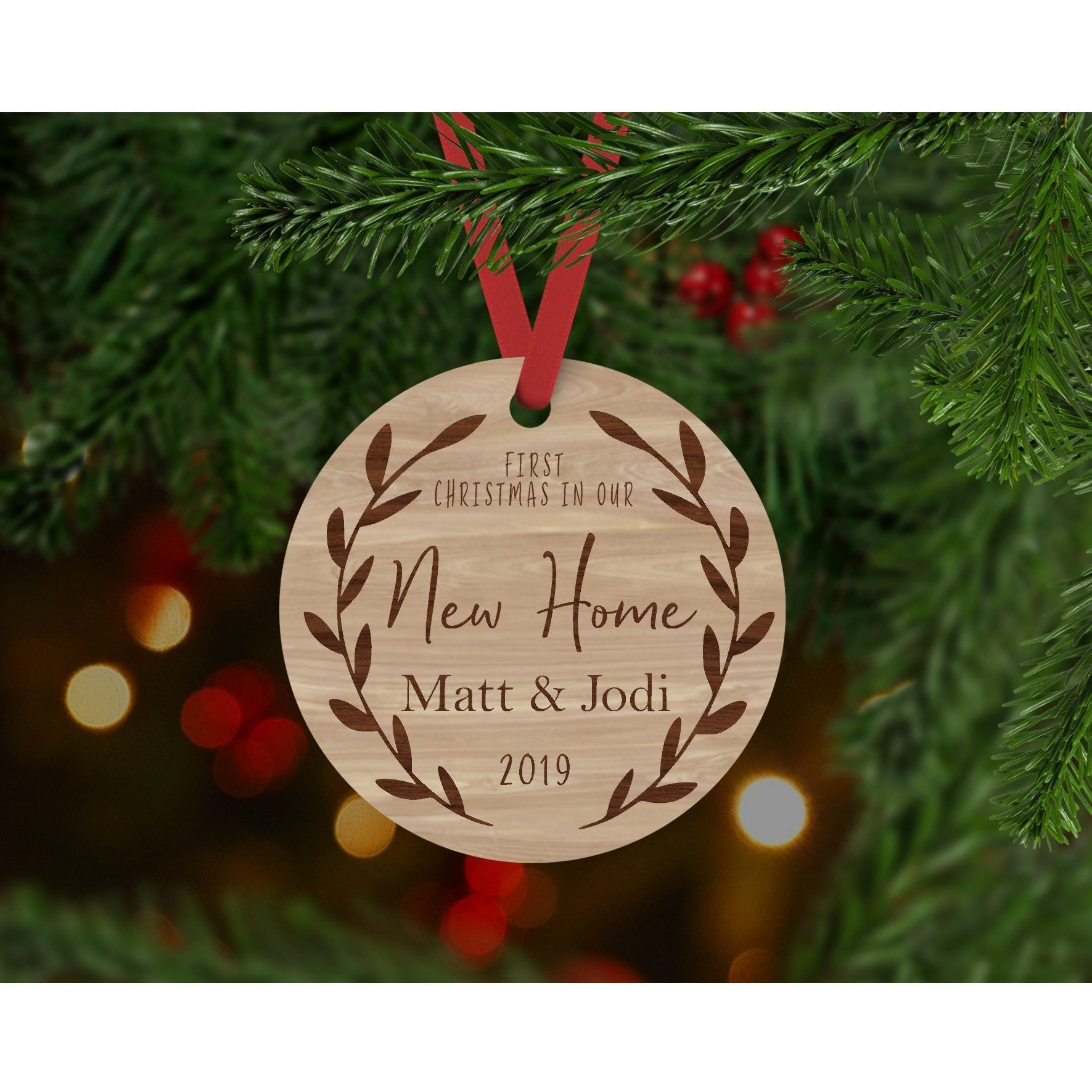 First Christmas In Our New Home 2019.Our First Christmas In Our New Home Personalised Christmas Bauble