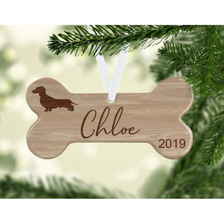 Dachshund Dogs Ornament - Aston Blue