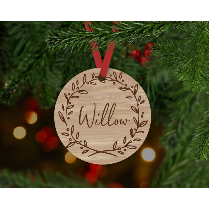 Personalised Christmas Bauble - Aston Blue