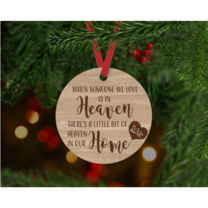 When Someone we love is in heaven Ornament - Aston Blue