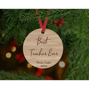 Teacher Ornament - Aston Blue