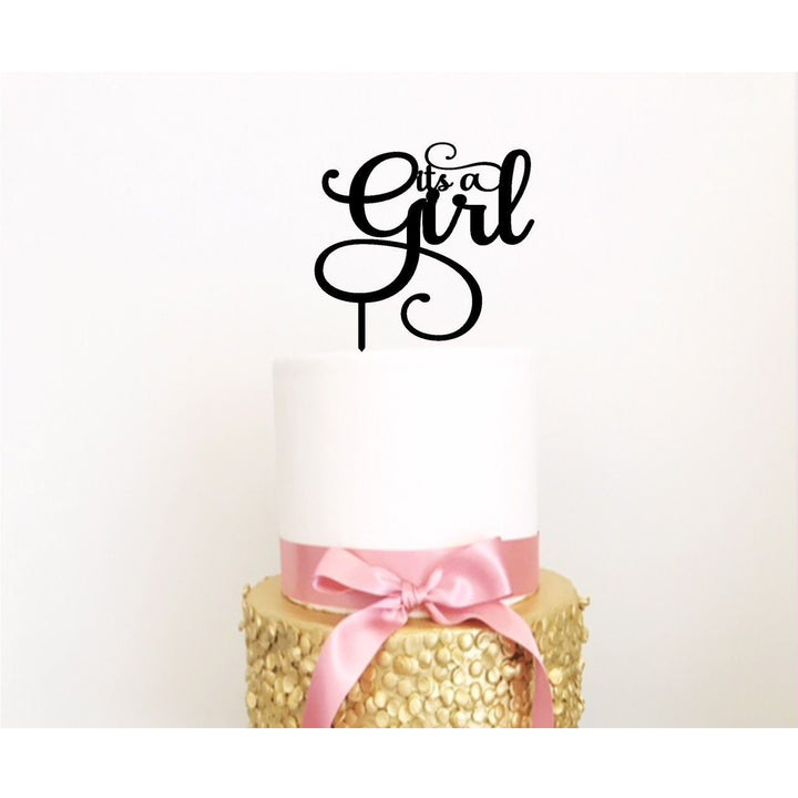 It's A Girl Cake Topper - Aston Blue
