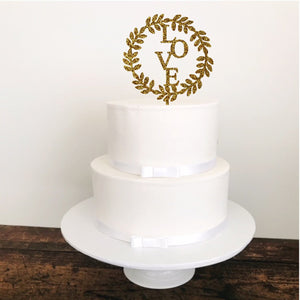 Love Cake Topper - Aston Blue
