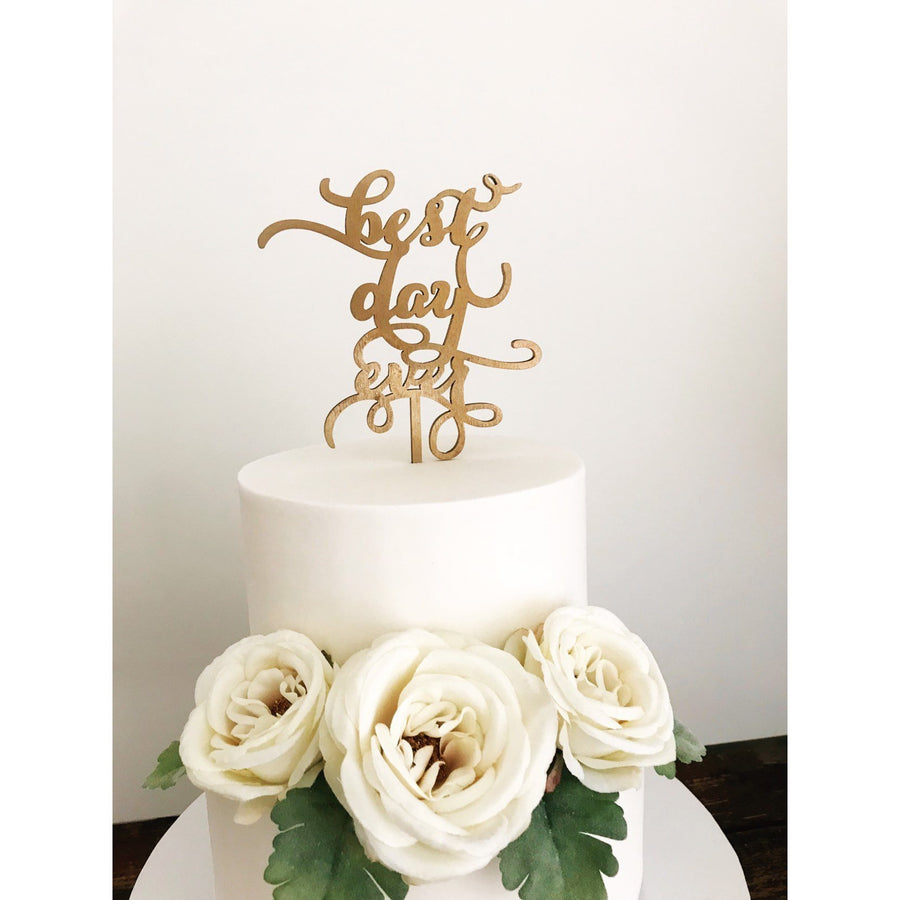 Best Day Ever Cake Topper - Aston Blue