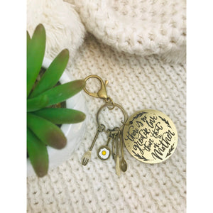 There is no greater love Key Ring - Aston Blue