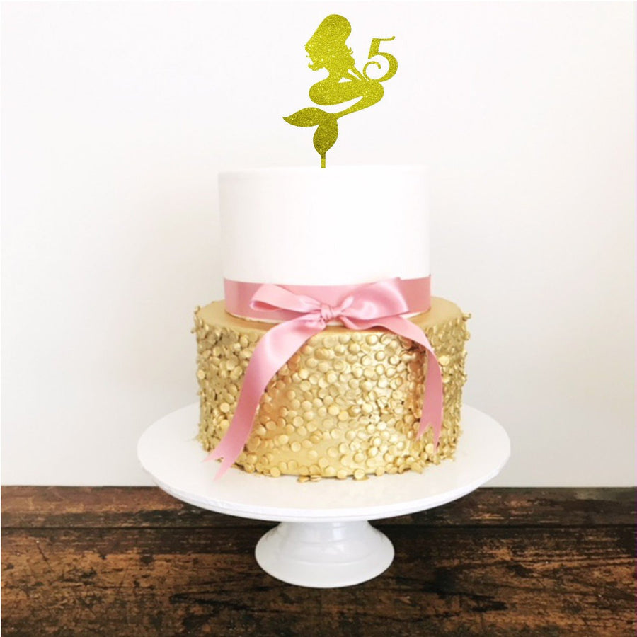 Mermaid Cake Topper - Aston Blue