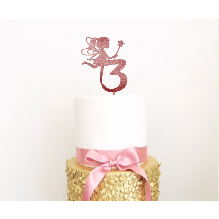 Fairy Cake Topper - Aston Blue