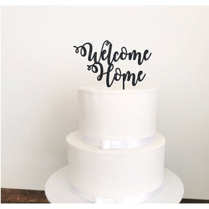 Welcome Home Acrylic Cake Topper - Aston Blue